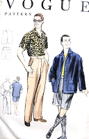 1950s CLASSY Mens Pants, Shorts and Shirt Pattern VOGUE 8623 Gentlemens Weekend Wear Wardrobe Chest 38-40 Vintage Mens Sewing Pattern FACTORY FOLDED