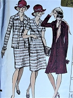 1970s STYLISH Coat, Jacket, and Dress Vogue Pattern 8687 Bust 36 Vintage Sewing Pattern