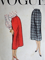 1950s CLASSY Slim Skirt Pattern Vogue 8983 Vintage Sewing Pattern