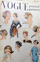 RESERVED  FABULOUS 1950s Accessory Set Headbands Scarf Hair Bows Pattern VOGUE 9576 Day or Evening Styles One Size Vintage Sewing Pattern