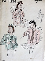1940s Vintage LOVELY Bed Jacket in Three Styles Vogue 9584 Sewing Pattern Bust 30