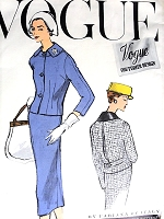 1950s CHIC Fabiana of Italy Slim Suit Pattern VOGUE Couturier Design 965 Elegant Design Bust 31 Vintage Sewing Pattern FACTORY FOLDED