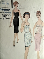 1950s Vintage PRETTY Slip, Camisole, Petticoat, and Petti-pants Vogue 9760 Sewing Pattern Bust 34