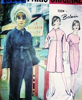 1960s ELEGANT Balmain Slim Dress and Empire Coat Pattern VOGUE Paris Original 1324 Vintage Sewing Pattern Stunning Design Daytime or After 5 Bust 32 Vintage Sewing Pattern FACTORY FOLDED