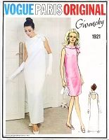 RARE 60s GIVENCHY Evening Gown Cocktail Party Dress Pattern VOGUE PARIS Original 1921 BreakFast at Tiffanys Audrey Style Dress Cut Out Back Bust 34 Vintage Sixties Couture Sewing Pattern