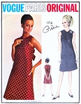 1960s Gres Cocktail Evening Dress Pattern Vogue Paris Original 1716 Perfect Little Black Dress Bust 32 Vintage Sewing Pattern