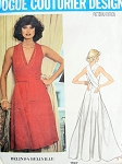 1970s Stunning Evening Dress or Gown Pattern Low V Neckline Lovely Strappy Back Wrap n Tie Style Belinda Bellville Vogue Couturier Design 1192 Vintage Sewing Pattern Bust  30.5 or 32.5