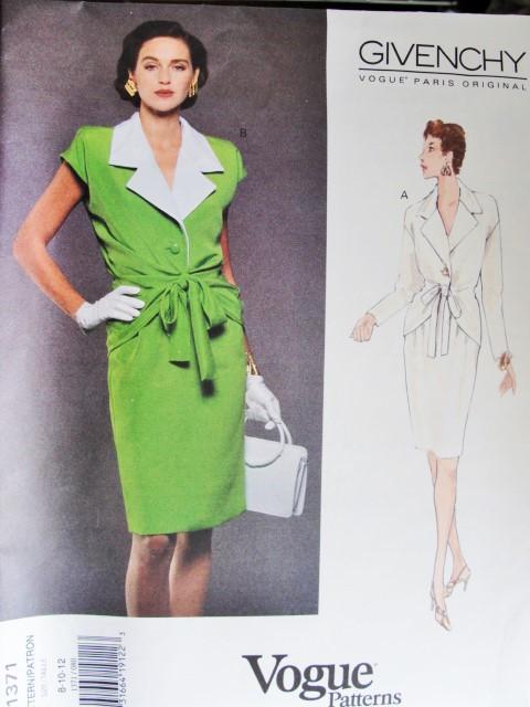 1990s Elegant Givenchy Blouse And Slim Skirt Pattern Vogue