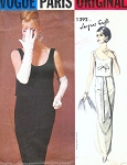 1960s  GRIFFE Evening Gown Party Dress Pattern Vogue Paris Original 1392 Lovely Slim Dress With Shaped Overblouse  Bust 31 Vintage Sewing Pattern