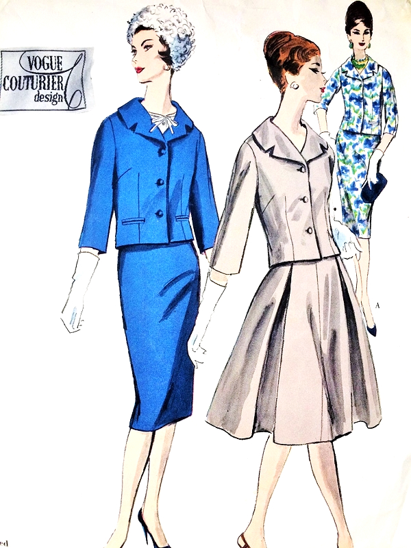1960 STYLISH Suit and Blouse Pattern VOGUE COUTURIER Design 1489 ...