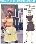 1960s CUTE Mod Belinda Bellville Dress Pattern VOGUE COUTURIER Design 1929  Bust 34 Vintage Sewing Pattern