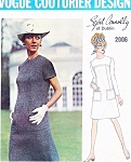 1960s MOD Sybil Connolly Dress Pattern VOGUE COUTURIER Design 2006 Jewel Neckline Easy To Wear Dress Bust 38 Vintage Sewing Pattern FACTORY FOLDED