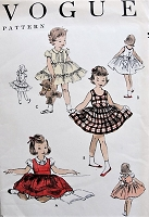 Vintage 1950s SWEET Toddlers Child's Dress, Jumper, and Petti-Blouse Vogue  2730 Childrens Vintage Sewing Pattern