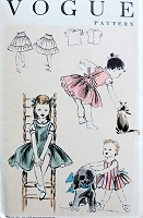 1950s Vintage ADORABLE Dress, Jumper, Blouse, and Petticoat Vogue 2732 Sewing Pattern Chest 23