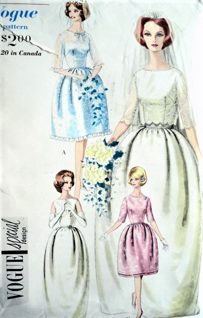 1960s Elegant Bridal Wedding Or Bridesmaid Dress Bolero