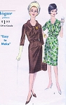 1960s STYLISH Slim Dress Pattern Vogue 5763 Easy To Make Day or After 5 Style Bust 37 Vintage Sewing Pattern FACTORY FOLDED