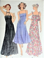 1970s Retro GLAMOROUS Dress in Three Styles Vogue 7104 Sewing Pattern Bust 38