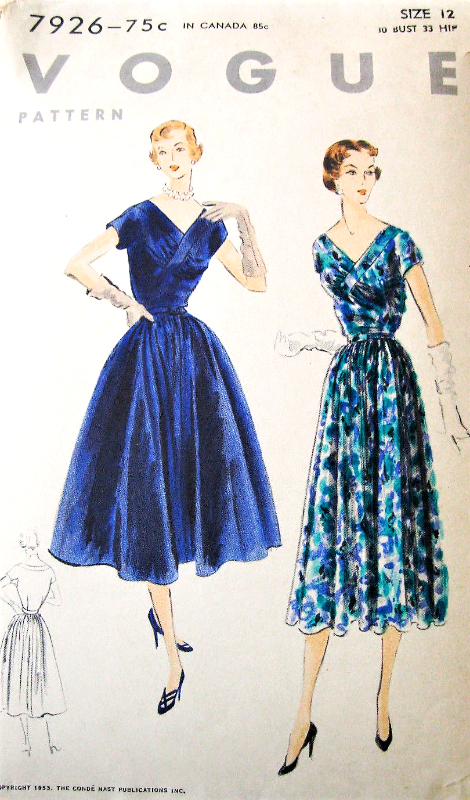 60s BEAUTIFUL Party Cocktail Evening Dress Pattern VOGUE 60 V Custom Vogue Evening Dress Patterns