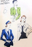 1940s Bolero Jackets Pattern Vogue 8939 Easy To Make 3 Chic  Day or Evening Styles Bust 34 Vintage Sewing Pattern