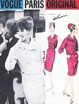 1960s CHIC LANVIN Suit and Blouse Pattern VOGUE PARIS Original 1213 Short Jacket Slim Skirt Surplice Wrap Blouse Daytime or Evening Wear Bust 32 Vintage Sewing Pattern FACTORY FOLDED