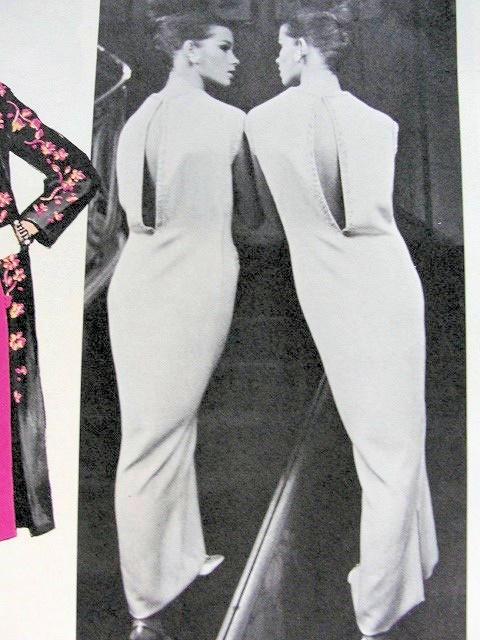 1960s Day or Evening Dress, Slip and Coat Pattern Vogue Paris ...