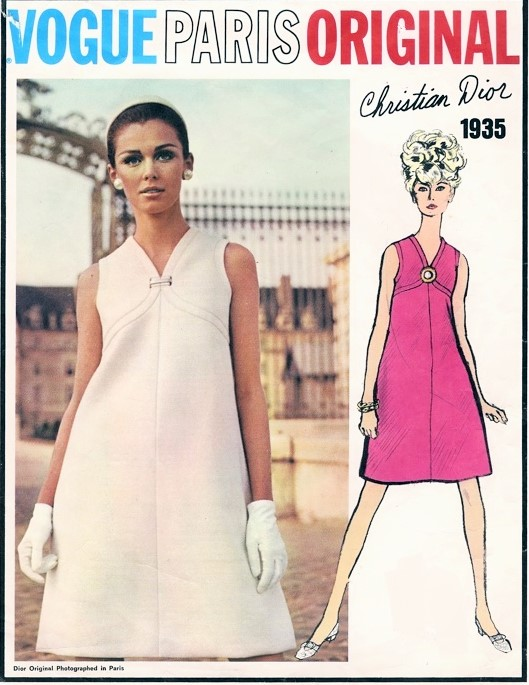1960s Mod Christian Dior Cocktail Evening Or Day Dress