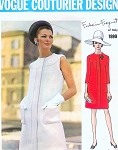 1960s MOD Elegant Forquet Slim Dress Pattern VOGUE COUTURIER DESIGN 1990 Day or After 5 Size 10 Vintage Sewing Pattern