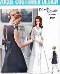 1960s BEAUTIFUL Belinda Bellville Evening Dress Gown Pattern VOGUE Couturier Design 2112 Gorgeous Design Bust  34 Vintage Sewing Pattern