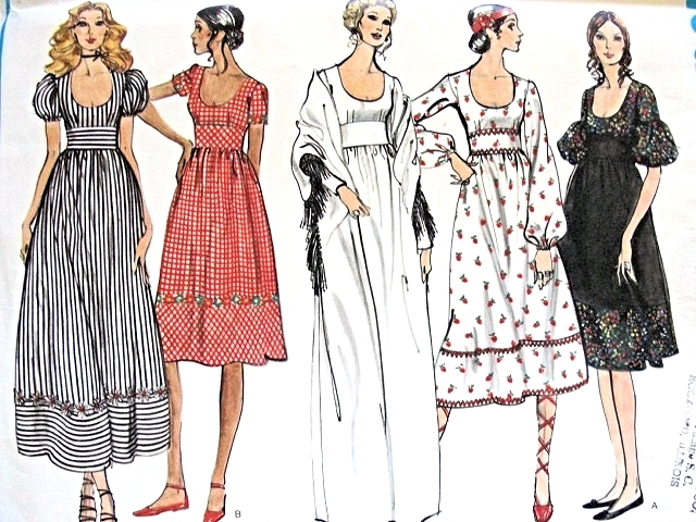 Ladies Boho Dress Sewing Pattern Whimsy Couture Sewing Patterns ...