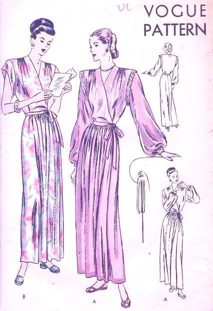 60s GLAMOROUS HouseCoat Robe Negligee Pattern Two Beautiful Styles Classy Lingerie Patterns