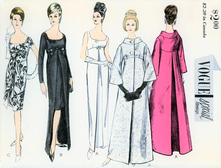 1960s ELEGANT Evening Dress and Theater Coat Pattern VOGUE Special ...