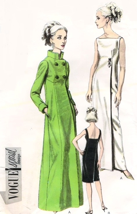 1960s DRAMATIC Evening Dress and Coat Pattern VOGUE SPECIAL DESIGN ...