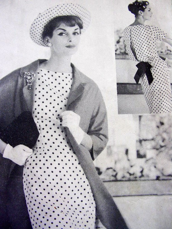 1950s Stunning Slim Dress And Coat Pattern Vogue Couturier