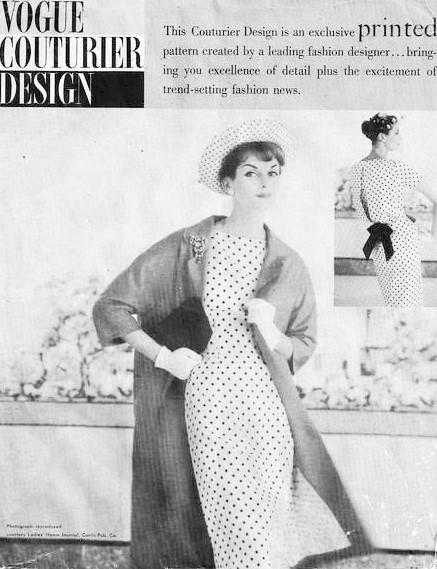 50s STUNNING Slim Dress and Coat Pattern VOGUE COUTURIER Design 112 ...