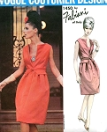 1960s STUNNING Fabiani Cocktail Evening Dress Pattern RARE Vogue Couturier 1450 Glam Design Bust 34 Vintage Sewing Pattern FACTORY FOLDED Includes Sew In Vogue Label