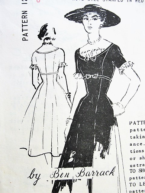 1950s GORGEOUS Cocktail Evening Party Dress Pattern SPADEA 1268 Flirty Sexy Style Bust 38 Vintage Sewing Pattern