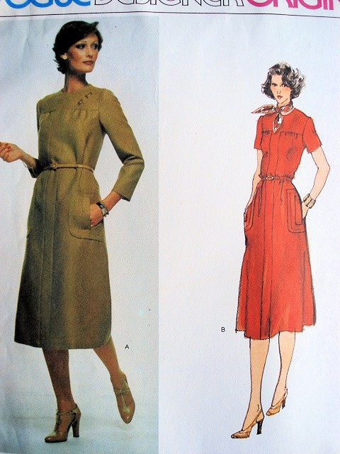 70s Sybil Connolly Dress Pattern Vogue Designer Original 1531 Classy
