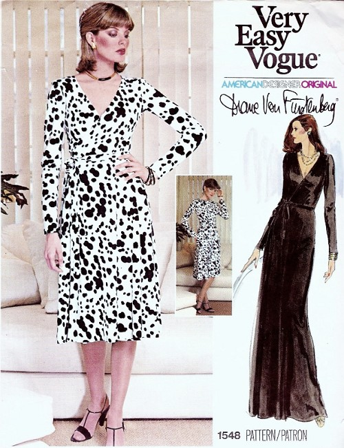 70s Vogue 1548 Dvf The Quintessential Diane Von Furstenberg Wrap Dress Very Easy To Sew