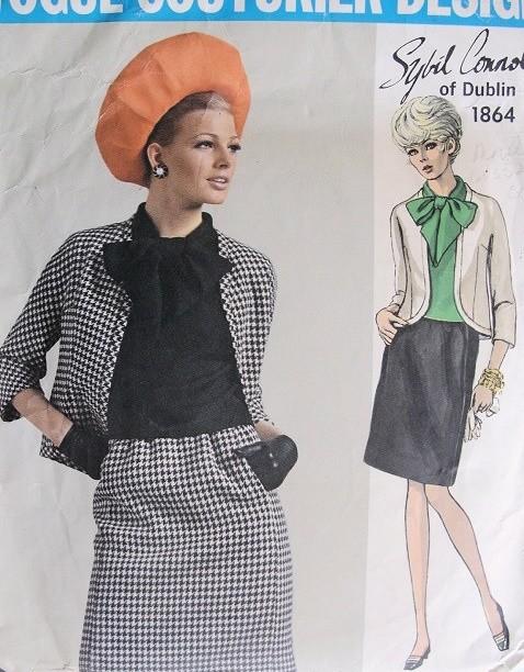 Vintage 60s Vogue Sewing Pattern VOGUE COUTURIER DESIGN 1864 Sybil ...