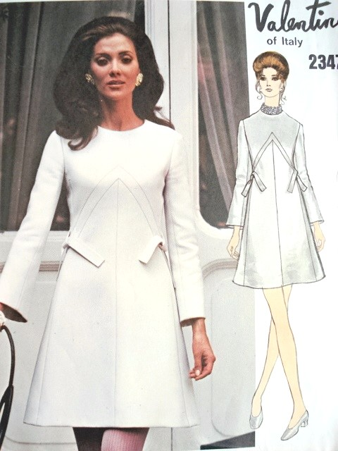 1960s Valentino Beautiful Day Or Party Dress Pattern Vogue Couturier