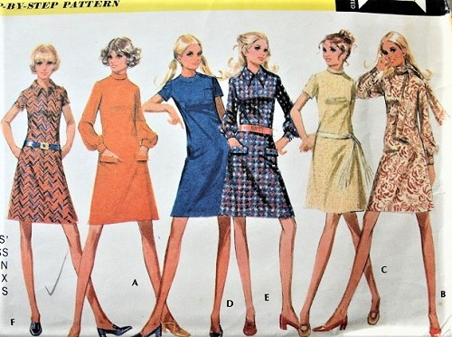 70s CUTE Dress in Six Versions Pattern McCALLS 2549 Bust 38 Vintage Sewing Pattern FACTORY FOLDED