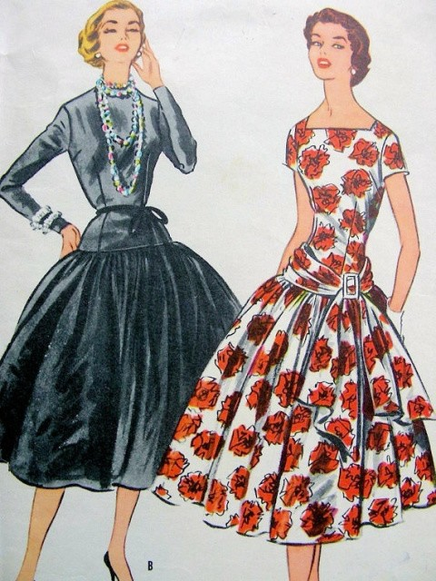 RARE 1950s McCALLS 3100 GRACE KELLY Dress Pattern Dress Worn For First Meeting with Prince Rainier Bust 32 Vintage Sewing Pattern