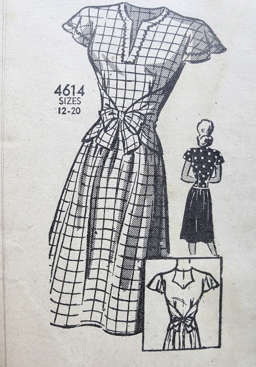 1940s CUTE Wrap n Tie Blouse and Skirt Pattern ANNE ADAMS 4614 Lovely Design Bust 36 Vintage Sewing Pattern
