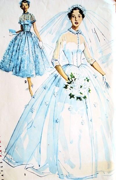 1950s Romantic Princess Grace Style Bridal Bridesmaid Dress Wedding ...