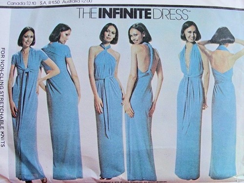 1970s THE INFINITE DRESS PATTERN WRAP and TIE 13 DIFFERENT WAYS TO ...