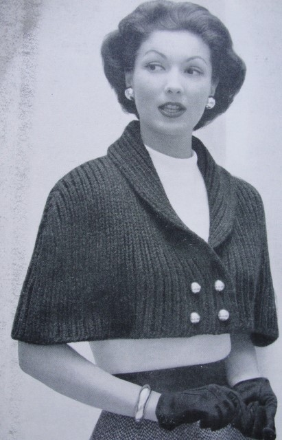 Instant Download Pattern 1950s Lovely Cape Stole Wrap Pdf Knitting