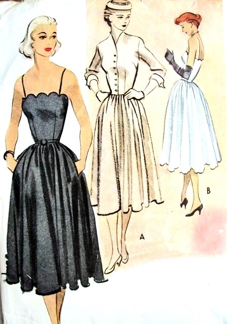 1950 Lovely Camisole Bodice Evening Party Dress And Fitted Jacket