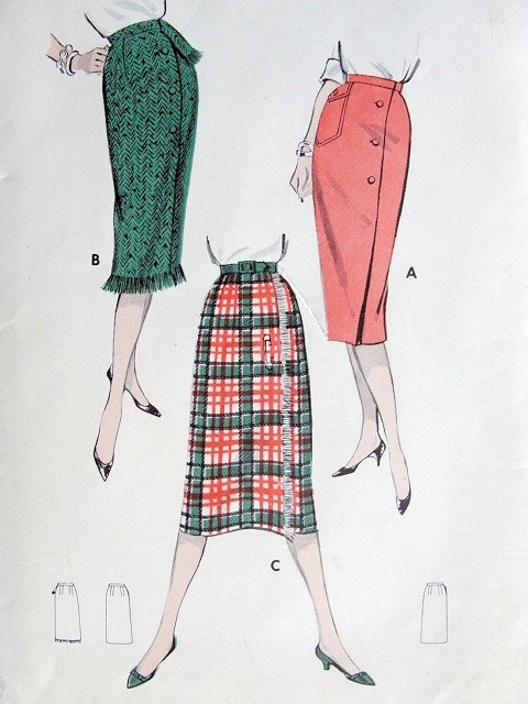 1950s Butterick 8638 Vintage Sewing Pattern FABULOUS Rockabilly Mad ...