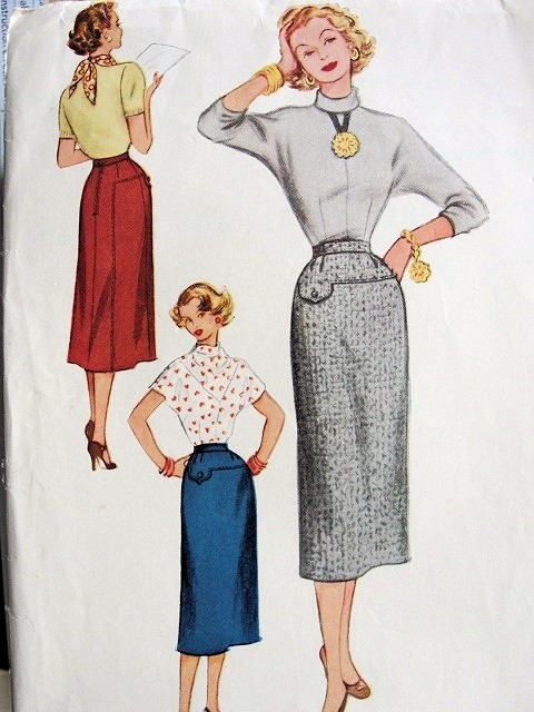 1950s Slim Skirt Pattern Very Marilyn Wiggle Pencil Style