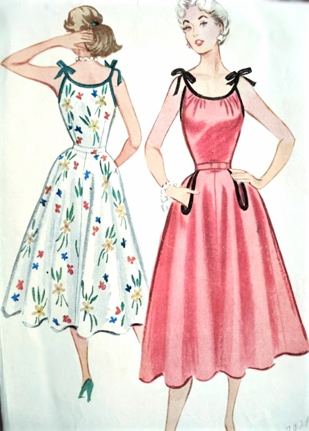 more photos choose official fashionable patterns 1950s BOMBSHELL Summer Dress Pattern McCALLS 9378 Beautiful Full Skirted  Dress, Tied Shoulders, Very Marilyn Monroe Style Bust 32 Vintage Sewing ...